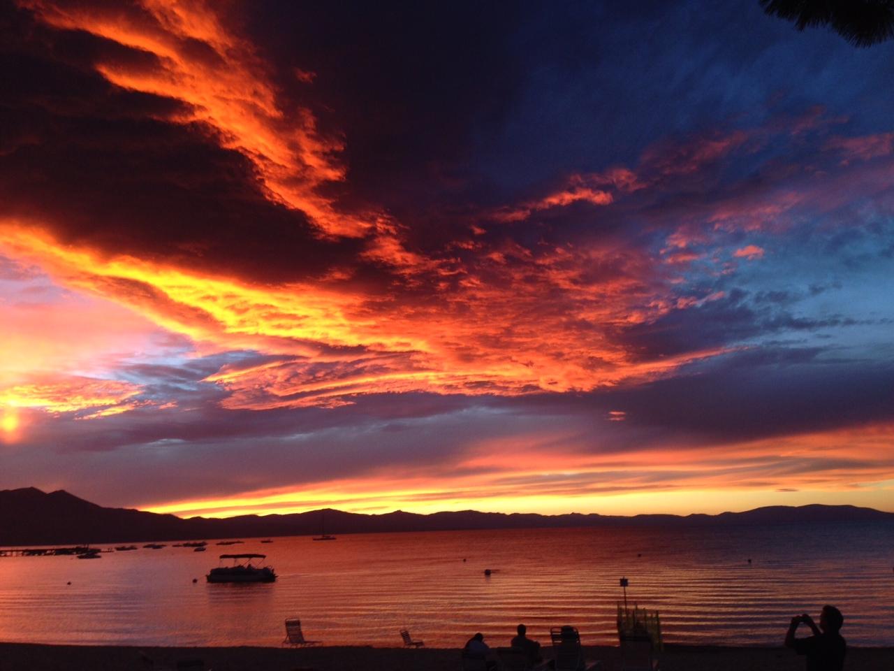 more south lake tahoe sunsets  u2013 rnr vacation rentals