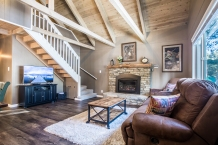 Comfortable seating to enjoy the HDTV or gas fireplace