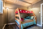 Perfect bunk room downstairs for the kids, twin over double