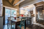 Tastefully decorated dining area/kitchen combination