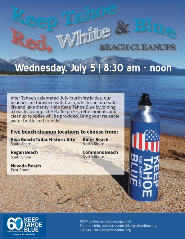 2017 Keep Tahoe Red, White and Blue Beach Cleanup Flyer[2] copy (1)